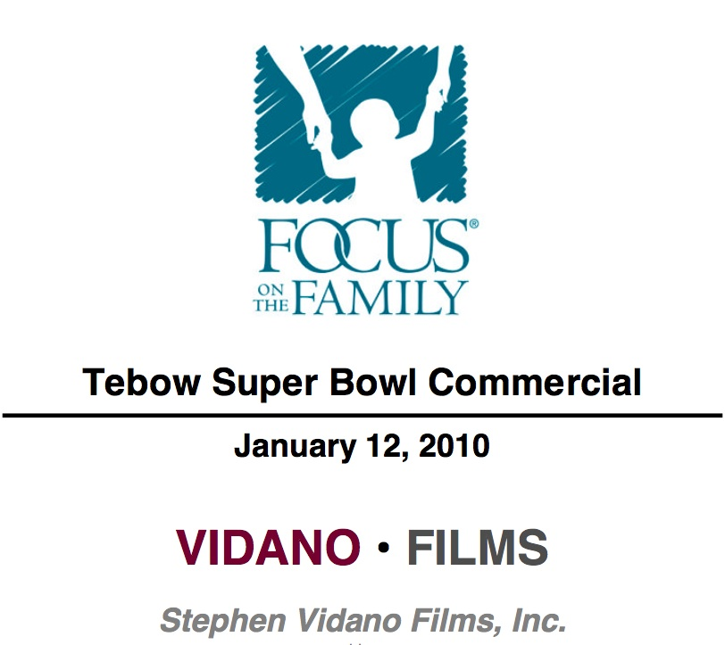 Tim Tebow Commercial Call Sheet