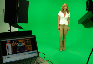 Tampa Green screen Video Production studio stage at CMR Studios, Tampa, St. Petersburg,  Florida
