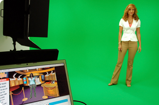 Tampa video green screen studio production with lighting grid and hourly Tampa studio rental