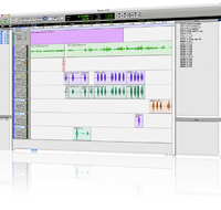 a ProTools digital audio recording waveform at CMR Studios, Tampa, Florida